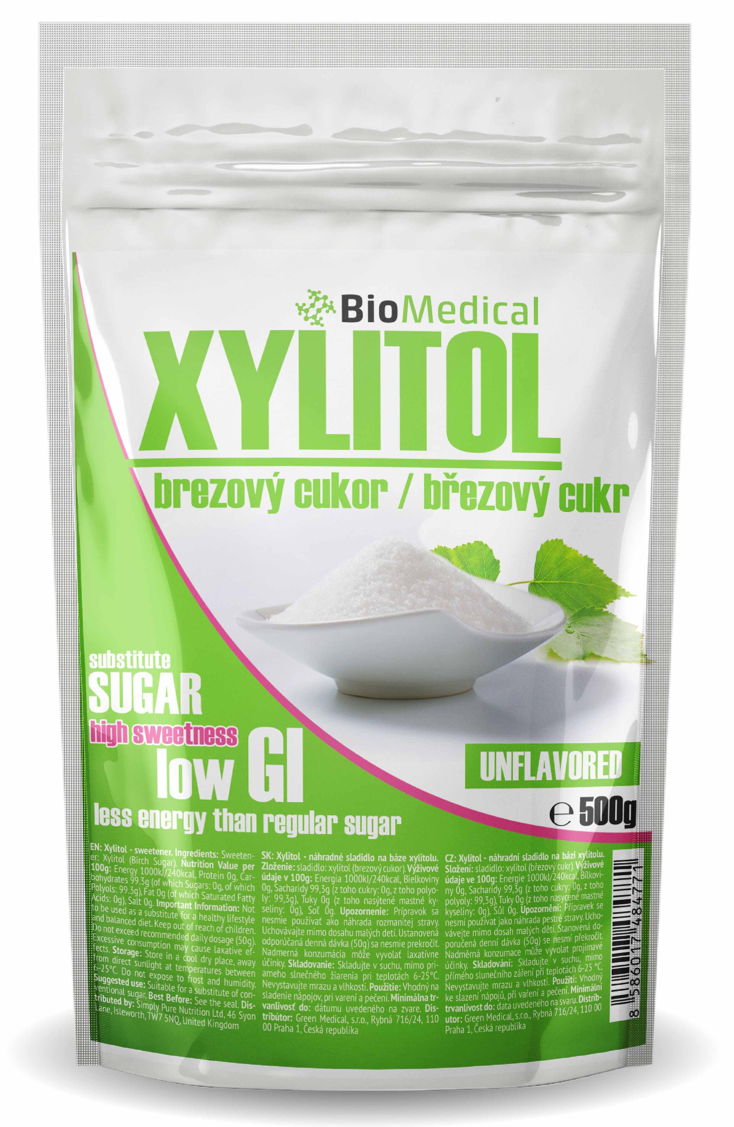 Xylitol - brezový cukor Natural 500g