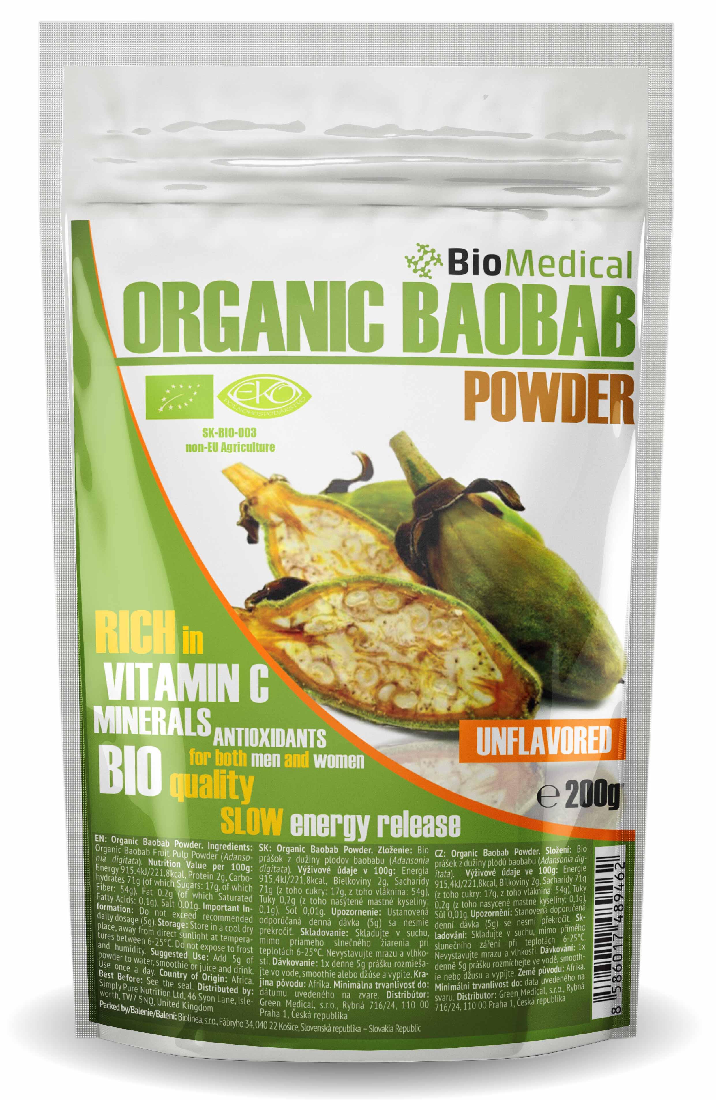 Organic Baobab Powder – Bio baobab prášok 200g