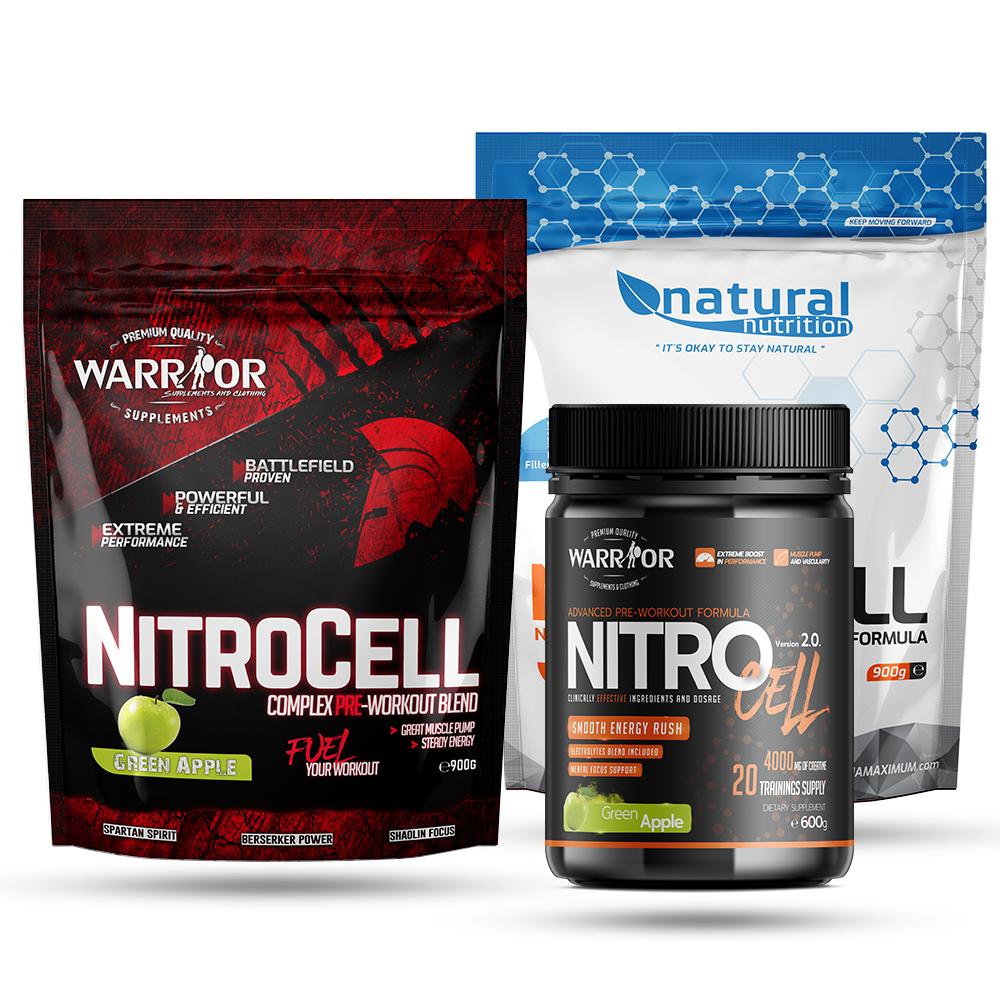NitroCell - predtréningová zmes Natural 300g