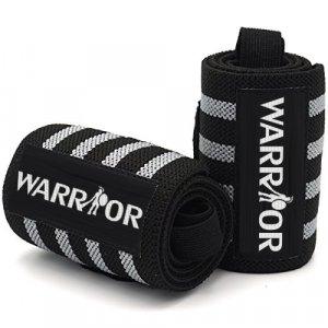 Bandáže na zápästia čierno-sivé Warrior