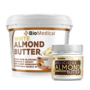 White Almond Butter - máslo z loupaných mandlí