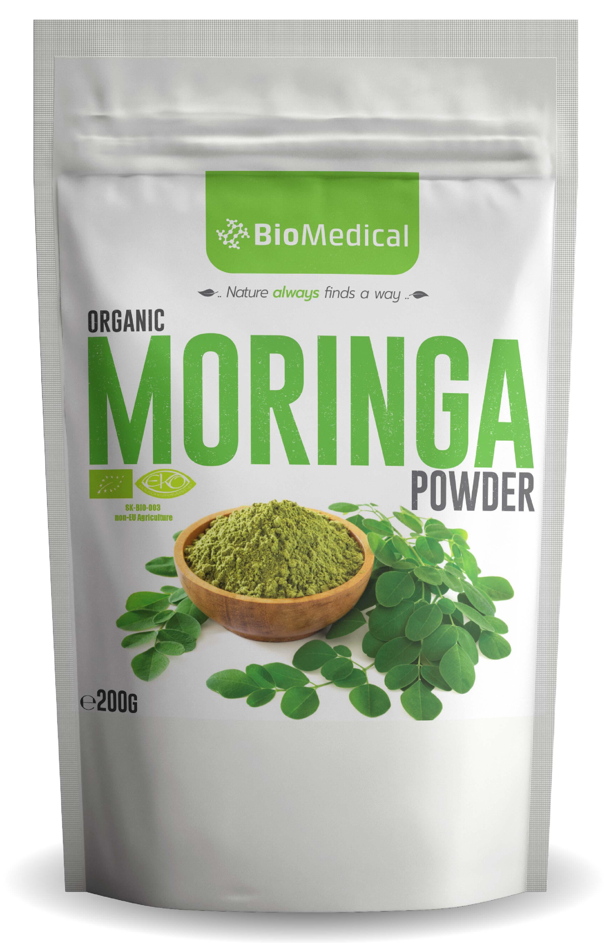 Organic Moringa Powder – Bio Moringa v prášku 200g