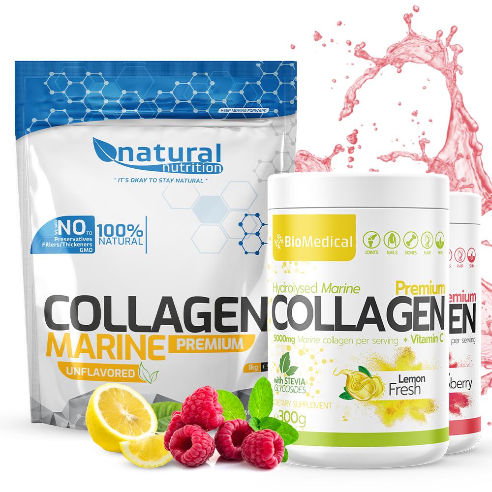 Collagen Premium - hydrolyzovaný rybací kolagén 300g Juicy Raspberry