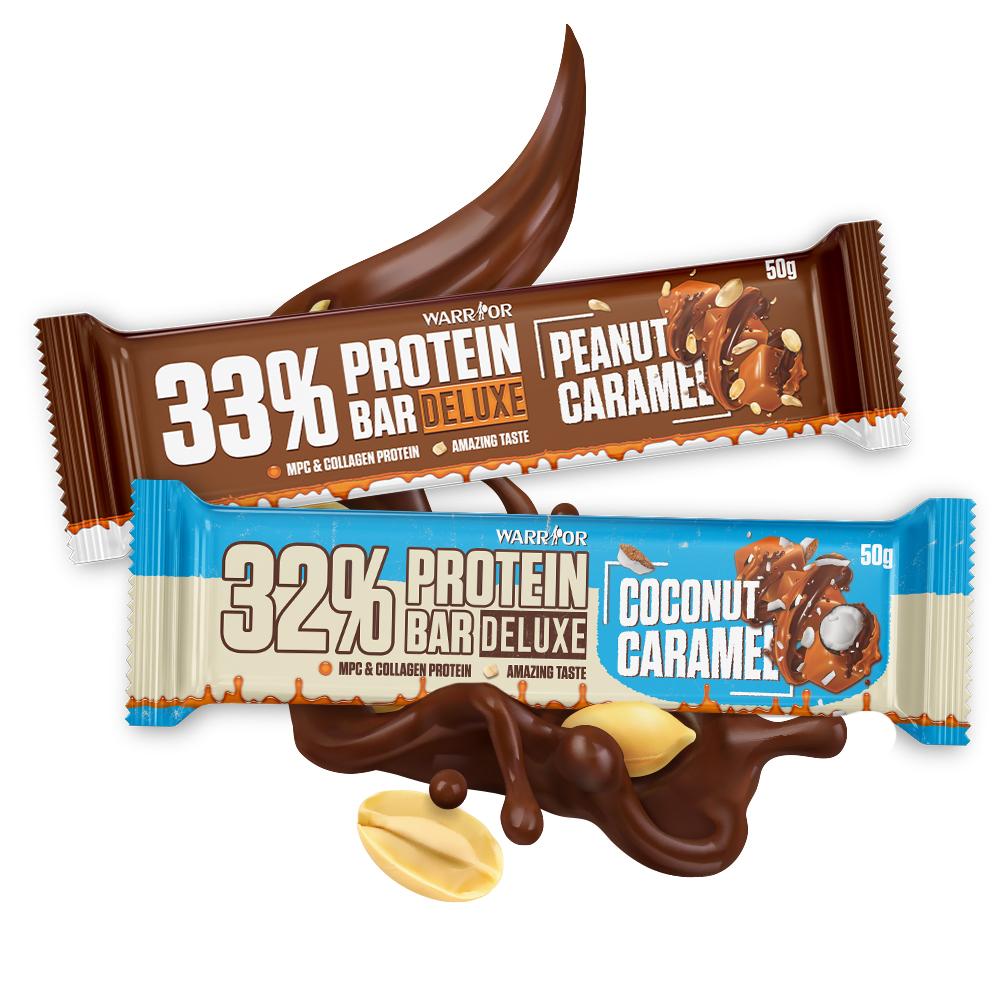 Protein Bar DeLuxe – Proteínová tyčinka 50g Caramel Peanuts