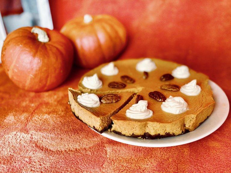 Recept na fit dýňový cheesecake