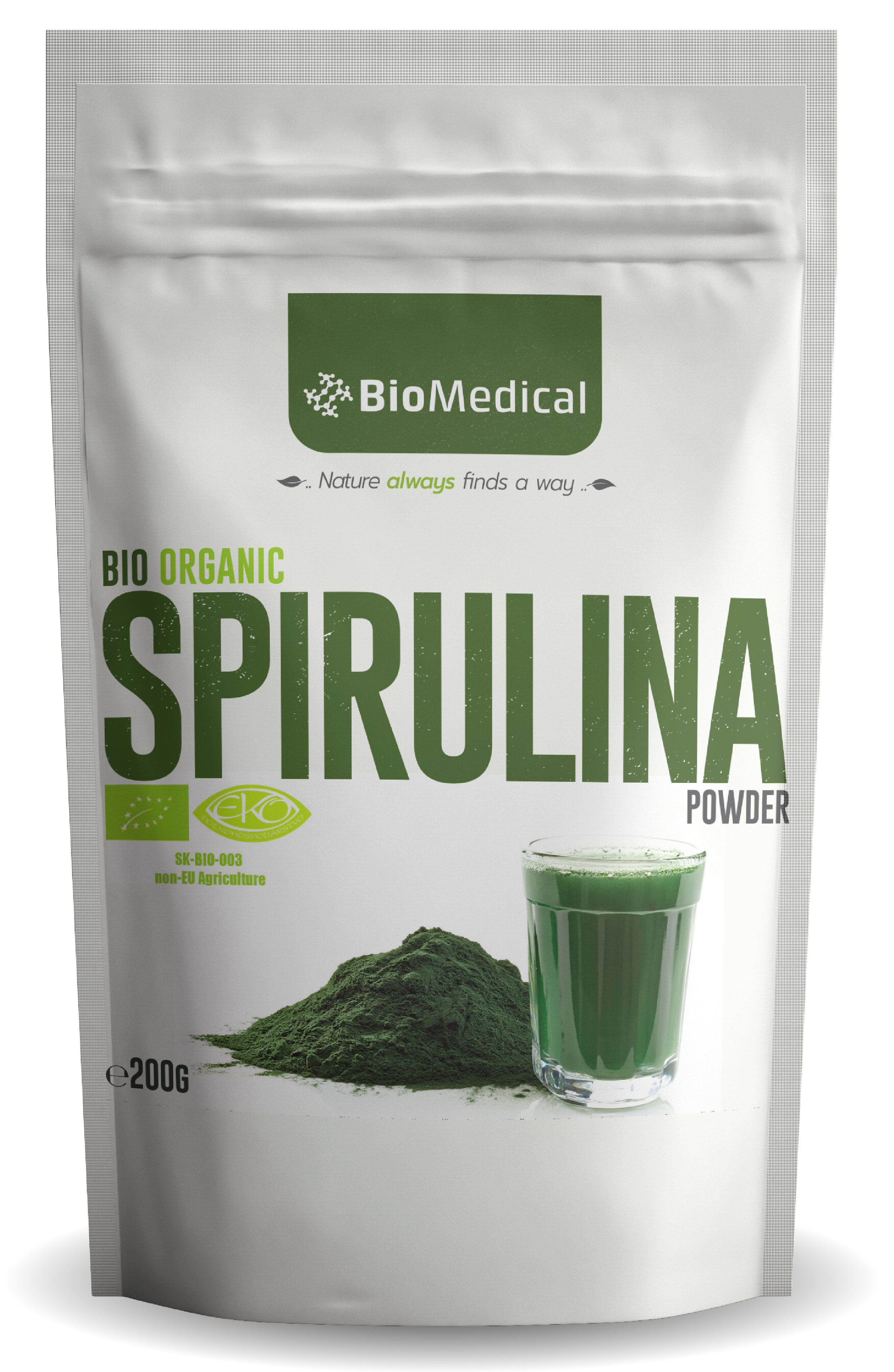 Bio Spirulina Natural 200g
