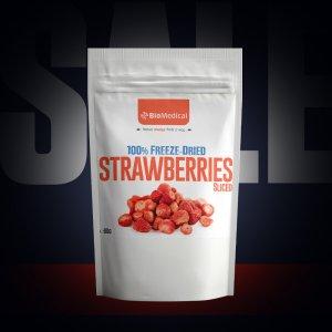 Mrazom sušené jahody - plátky