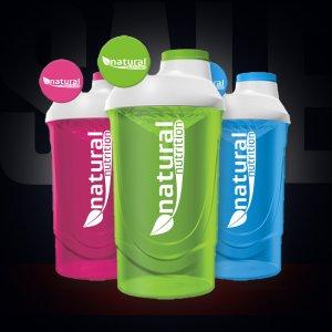Shaker Natural Nutrition 600ml barevný průhledný