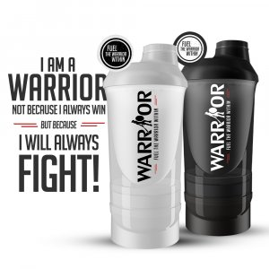 Smart Šejker Warrior viacdielny 600ml+350ml