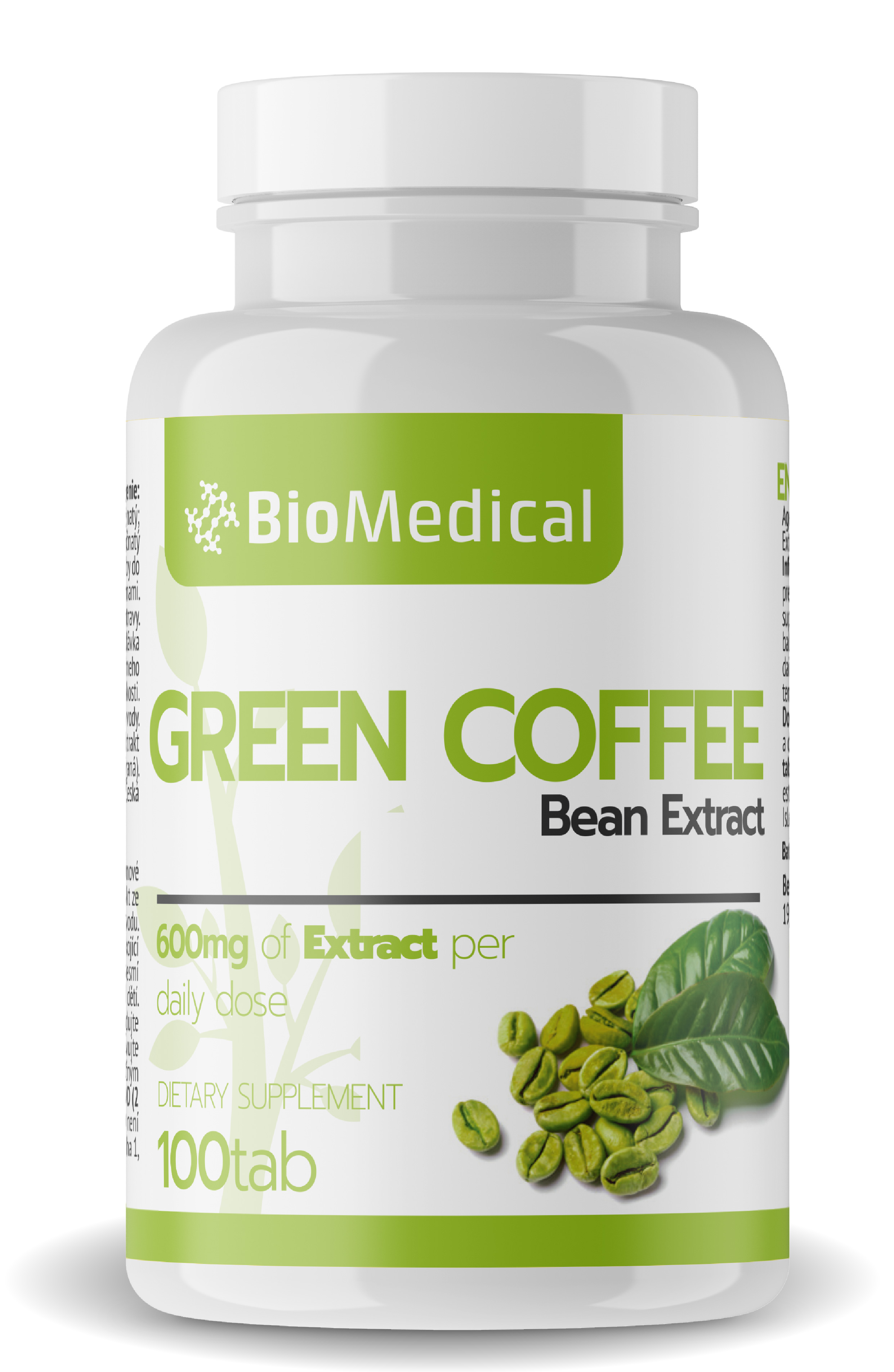 Zelená káva tablety 100 tab