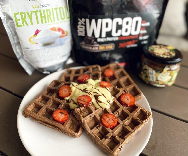 Recept na fit raňajky: čokoládové waffle