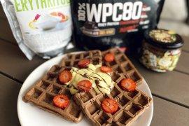 Recept na fit snídani: čokoládové waffle