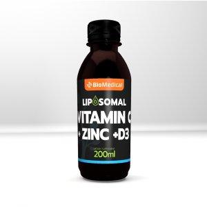 Liposomal Vitamin C + Zinc + D3 - Lipozomální vitamin C, Zinek, D3
