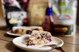 Recept na čučoriedkovo mandľový koláč plný bielkovín