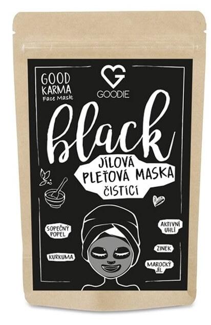 100% Prírodné pleťové masky Goodie čierne BLACK
