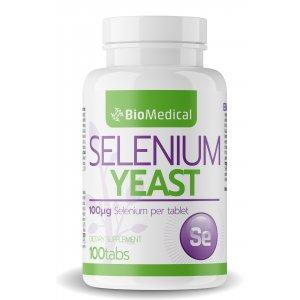 Selénové kvasnice v tabletách